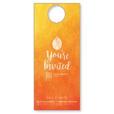 Youre Invited Orange Door Hanger