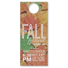 Fall Festival Leaves Door Hanger