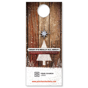 UMC Christmas Wood Door Hangers