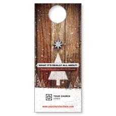 UMC Christmas Wood Door Hanger