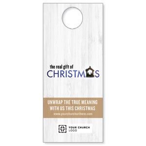 UMC Christmas White Wood Door Hangers