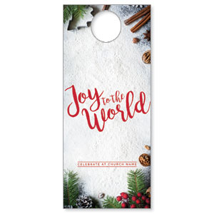 Joy To The World Snow DoorHangers