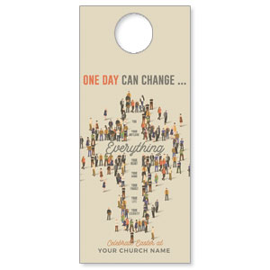 People Cross DoorHangers