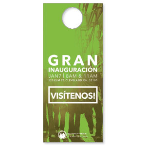 CityReach Urban Green Spanish Door Hangers