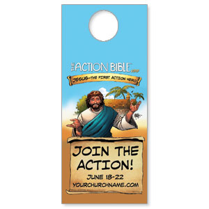 The Action Bible VBS DoorHangers