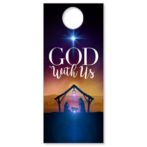 God With Us Advent Door Hangers