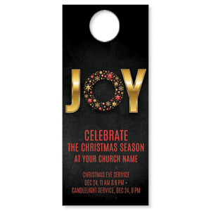 Gold Joy Wreath Door Hangers
