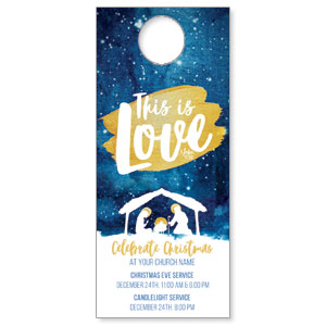 Painted Nativity Door Hangers