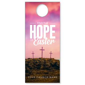 Hope of Easter Pink DoorHangers