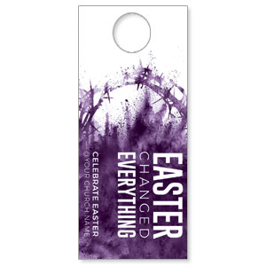 Purple Powder Crown Door Hangers