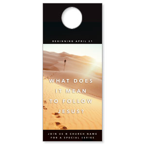 Following Jesus Sand Dunes DoorHangers