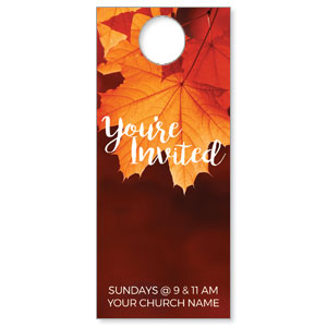 Fall Orange Leaves DoorHangers