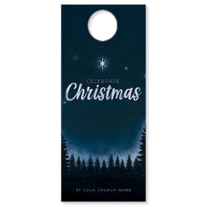 Christmas Forest Silhouette DoorHangers