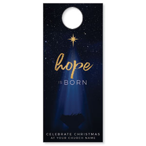 Christmas Star Hope is Born DoorHangers