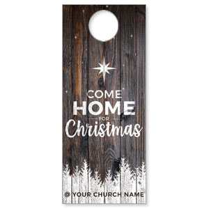 Dark Wood Christmas Come Home DoorHangers