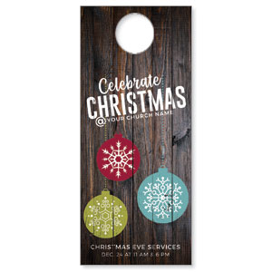 Dark Wood Christmas Ornaments DoorHangers
