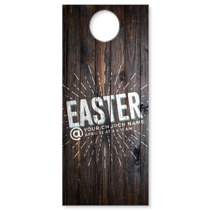 Dark Wood Easter At DoorHangers