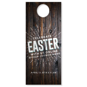 Dark Wood Easter At Online DoorHangers