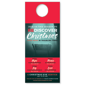 ReDiscover Christmas Advent Manger DoorHangers