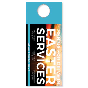 Drive In Easter Services DoorHangers