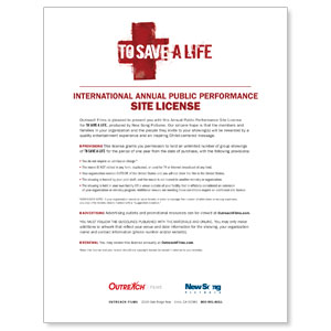 To Save A Life Int'l License Download DVD License International