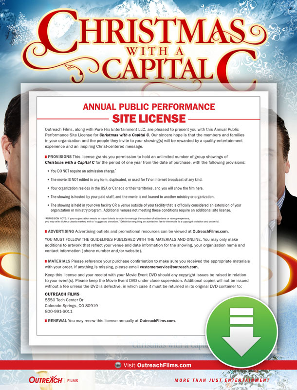 Christmas With A Capital C.Christmas With A Capital C Digital License Large