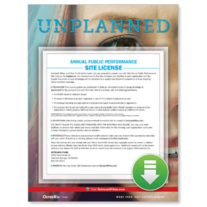 Unplanned Digital Movie License