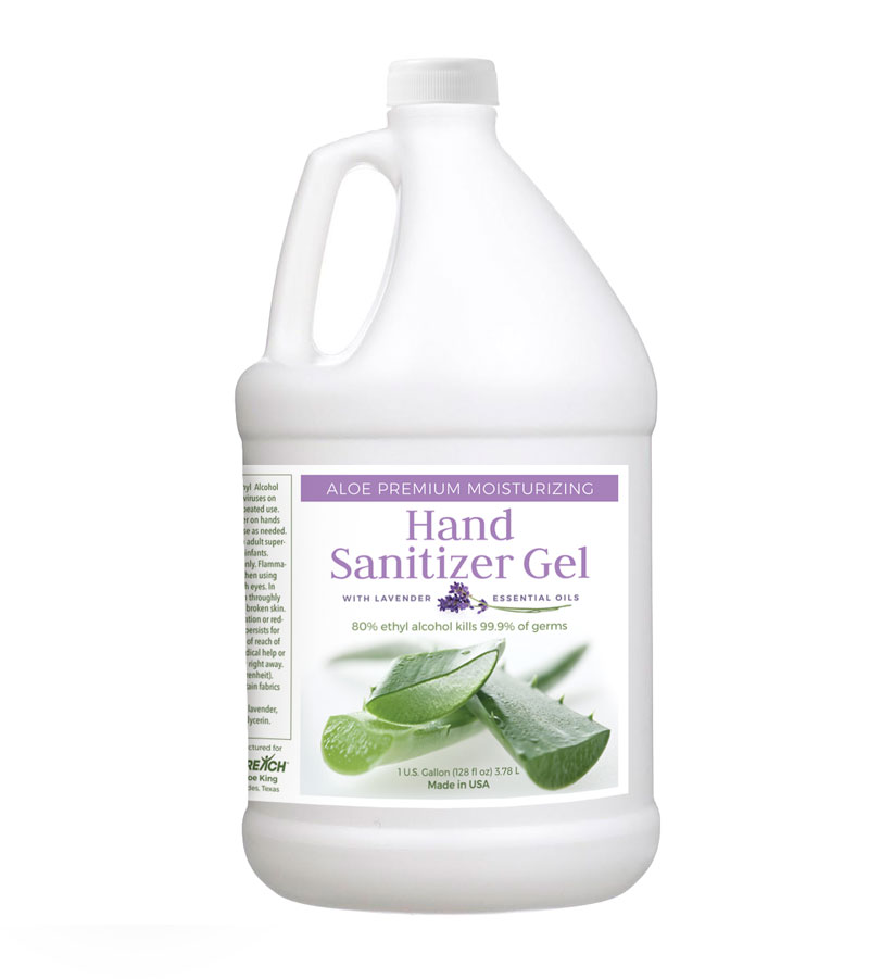 Safety Products, Safety, Gel Aloe Hand Sanitizer with Lavender in 1 Gallon Container (Single)