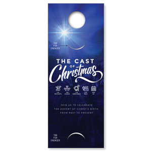 The Cast of Christmas Engager Companion DoorHangers