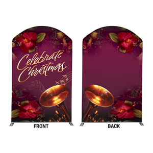 Celebrate Christmas 5' x 8' Curved Top Sleeve