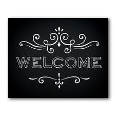 Chalk Welcome Banner