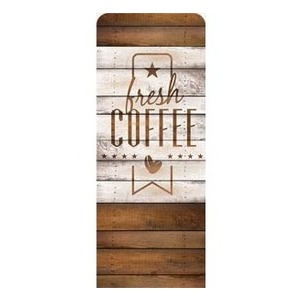 "Barn Wood Coffee 2'7"" x 6'7"" Sleeve Banners"