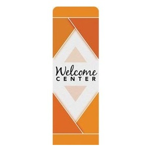 Welcome Diamond Orange 2 x 6 Sleeve Banner