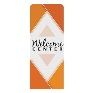 "Welcome Diamond Orange 2'7"" x 6'7"" Sleeve Banners"