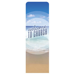 Season Welcome Ocean 2 x 6 Sleeve Banner