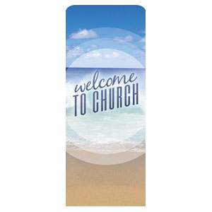 "Season Welcome Ocean 2'7"" x 6'7"" Sleeve Banners"