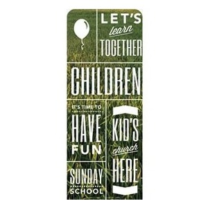 "Phrases Children 2'7"" x 6'7"" Sleeve Banners"
