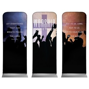 Worship Loud Triptych Banners