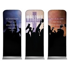 Worship Loud Triptych Banner