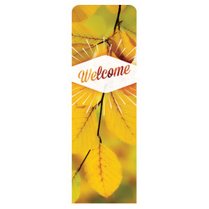 Welcome Burst 2 x 6 Sleeve Banner