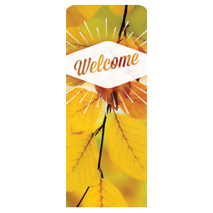 "Welcome Burst 2'7"" x 6'7"" Sleeve Banners"