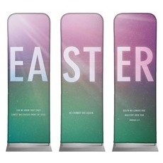 Easter Color Triptych Banner