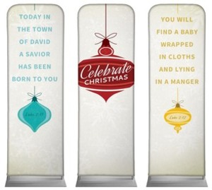 Retro Ornaments 2 x 6 Sleeve Banner
