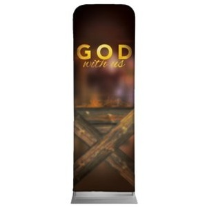 God With Us Manger 2 x 6 Sleeve Banner