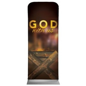 "God With Us Manger 2'7"" x 6'7"" Sleeve Banners"