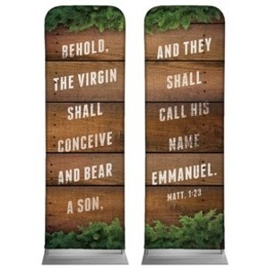 Matthew 1:23 Pair 2 x 6 Sleeve Banner