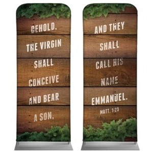 "Matthew 1:23 Pair 2'7"" x 6'7"" Sleeve Banners"
