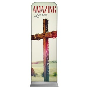 Amazing Love Cross 2 x 6 Sleeve Banner