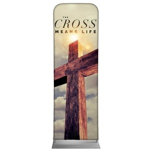 Cross Means Life 2 x 6 Sleeve Banner