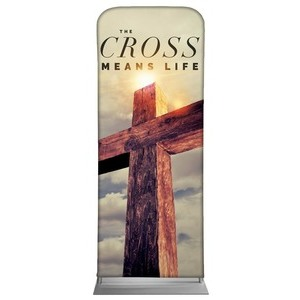 "Cross Means Life 2'7"" x 6'7"" Sleeve Banners"